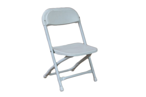 KID White Plastic Folding Chair Wow Party Rentals