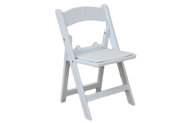 KID U2013 Resin White Folding Padded Chair