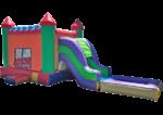 4in1 Rainbow Castle Water Slide